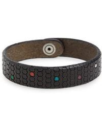 Orciani - Pois Leather Bracelet - Lyst