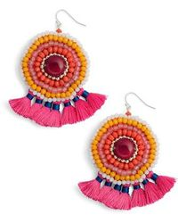 Nakamol - Circle Beaded Earrings - Lyst