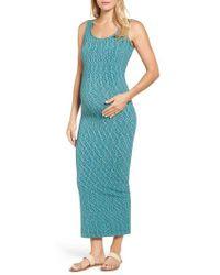 Tees by Tina - Marled Maxi Maternity Dress - Lyst