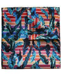 Eton of Sweden - Tropical Leaf Silk Pocket Square - Lyst