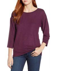 Bobeau - Pleat Back Pullover - Lyst