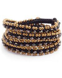 Serefina - Crystal Wrap Bracelet - Lyst