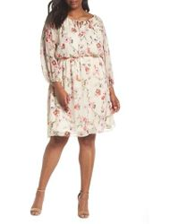 Adrianna Papell - Bonita Oasis Printed Dress - Lyst
