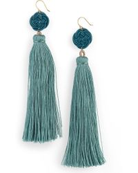 Serefina - Tassel Drop Earrings - Lyst