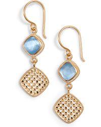 Anna Beck - Double Drop Earrings - Lyst