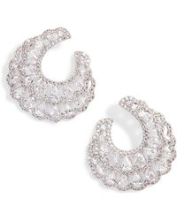 Nina - Layered Front/back Hoop Earrings - Lyst