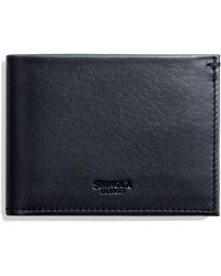 Shinola - Slim Bifold Leather Wallet - Lyst