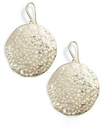 Melinda Maria - Honey Circle Drop Earrings - Lyst