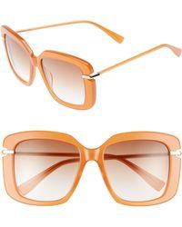 Derek Lam - Anita 55mm Square Sunglasses - Amber - Lyst