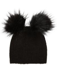 4284e00d0bcf4 Recently sold out. TOPSHOP - Faux Fur Double Pompom ...