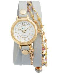 La Mer Collections - La Mer Nolita Leather Wrap Strap Watch - Lyst