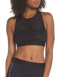 Alala - Cross Back Perforated Sports Bra - Lyst