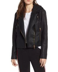 Blank NYC - Meant To Be Moto Jacket With Removable Hood - Lyst