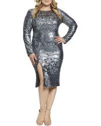 9854abfa00e3 Bebe Natalie Print Dress in Blue - Lyst
