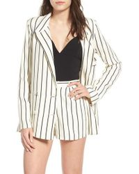 Lovers + Friends - Fanning Stripe Blazer - Lyst