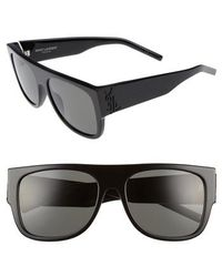 Saint Laurent | Sl M16 55mm Flat Top Sunglasses | Lyst