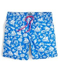J.Crew | J.crew Seaside Print Swim Trunks | Lyst