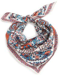 Echo - The Bengal Square Silk Scarf - Lyst