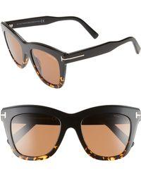 332596a46a2 Tom Ford - Julie 52mm Sunglasses - Shiny Black  Smoke  Silver - Lyst