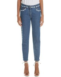 Moschino - Dotted Line Straight Leg Jeans - Lyst