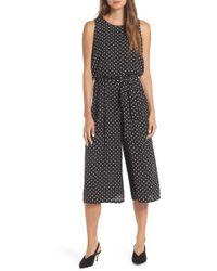 c56753e0c0c1 Vince Camuto - Print Moss Crepe Wide Leg Crop Jumpsuit - Lyst
