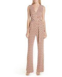 Diane von Furstenberg - Terria Sleeveless Silk Jumpsuit - Lyst