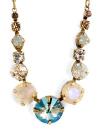 Sorrelli - Delicate Round Crystal Necklace - Lyst