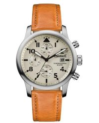 INGERSOLL WATCHES - Ingersoll Hatton Chronograph Leather Strap Watch - Lyst