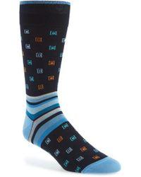 Bugatchi - Geometric & Stripe Socks - Lyst