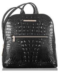 Brahmin - Felicity Croc Embossed Leather Backpack - - Lyst