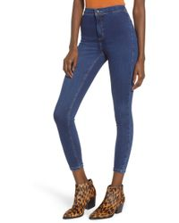 TOPSHOP - Joni High Waist Crop Skinny Jeans - Lyst