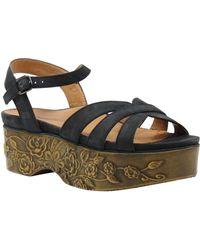 L'amour Des Pieds - Gillon Embossed Platform Wedge Sandals - Lyst