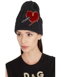 Dolce & Gabbana - Wool Logo Beanie - Lyst