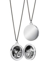 Monica Rich Kosann - Round Dome Locket Necklace - Lyst