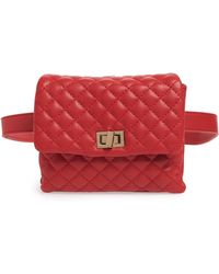 Mali And Lili Mali + Lili Quilted Vegan Leather Belt Bag in Pink - Lyst a93b92872598d