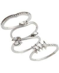 TOPSHOP | Petal Set Of 4 Stackable Rings | Lyst