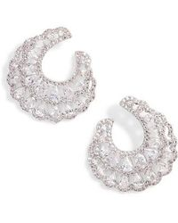 Nina - Layered Front/back Hoop Earrings - Lyst