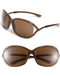 cfc67c57b8 Tom Ford - Jennifer 61mm Polarized Open Temple Sunglasses - - Lyst