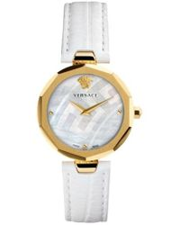 Versace - Idyia Leather Strap Watch - Lyst