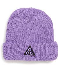 c5366bc2244 Nike - Sportswear Acg Beanie - Purple - Lyst