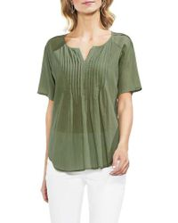 Vince Camuto - Pintucked Blouse - Lyst