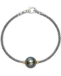 Lagos - Luna Pearl Single Station Bracelet - Lyst