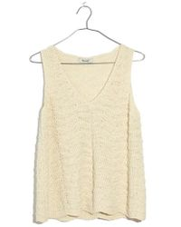 Madewell - Crocheted Sweater Tank - Lyst