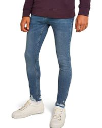 TOPMAN - Smokey Spray-on Jeans - Lyst