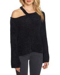 1.STATE   Split Neck Chenille Sweater   Lyst