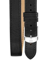 Michele - 16mm Double Wrap Leather Watch Strap - Lyst