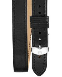 Michele - 16mm Leather Strap Watch - Lyst