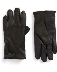Ugg   Ugg Leather Smart Gloves   Lyst