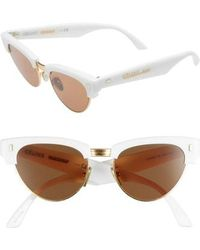 2ef9916be29 Céline - 51mm Modified Cat Eye Sunglasses - Shiny Ivory - Lyst