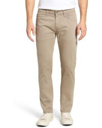 Mavi Jeans - Zach Straight Leg Twill Pants - Lyst